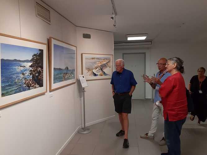 Sennelier, la acuarela exclusiva de la Sociedad Francesa de Acuarela visiteurs23-