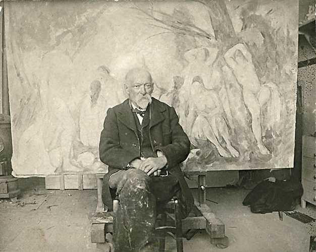 Sennelier y la paleta de Paul Cézanne emilbernardpaulcezanneinhisstudioatleslauves1904